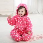 Baby Cute Dot Zipper Kigurumi Onesie Costume