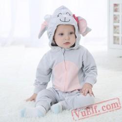Baby Cute Elephant Kigurumi Onesie Costume