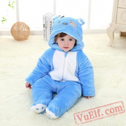 Baby Blue Puppy Kigurumi Onesie Costume