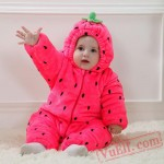 Baby Strawberry Kigurumi Onesie Costume