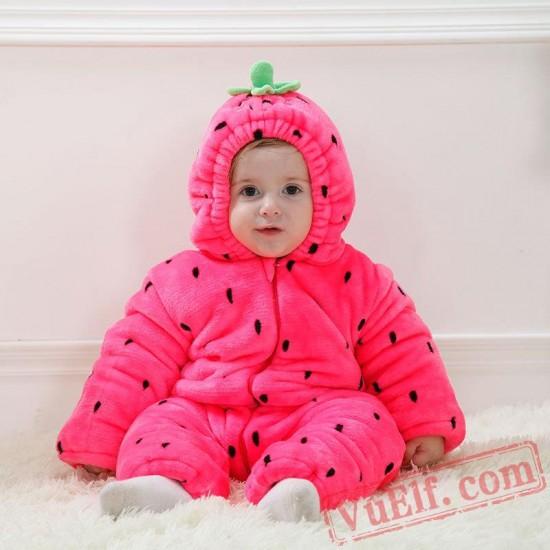 Baby Strawberry Kigurumi Onesie Costume