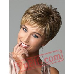 Puffy Short Brown Wigs for Women