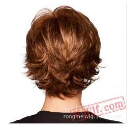 Short Brown Blonde Wigs for Women