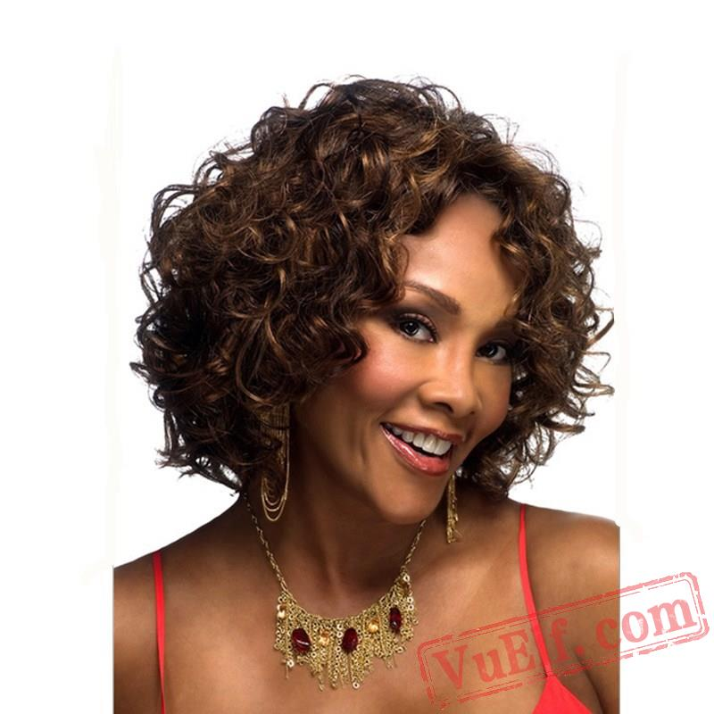how to style short puffy hair brown curly wigs for 7535 | Wig220321131 800x800