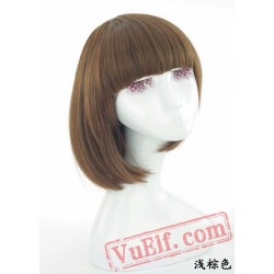 Black & Brown Mid Length BOBO Wigs for Women