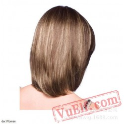 Brown Mid Length Wigs for Women