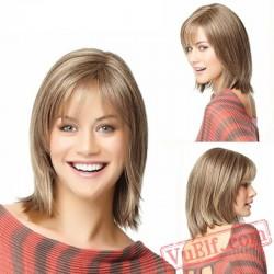 Straight Short Blonde Wigs for Women