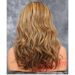 Long Brown Blonde Curly Wigs for Women