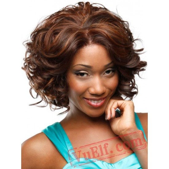 Black Short Curly Wigs for Women
