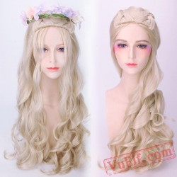 Cosplay Golden Long Curly Wigs Daenerys Targaryen for Women