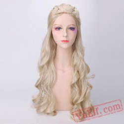 Cosplay Golden Long Curly Wigs Daenerys Targaryen for Women