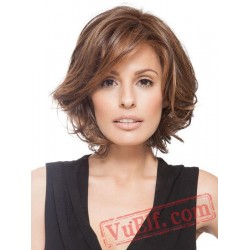 Short Brown Curly Wigs for Women