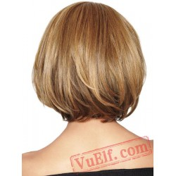 Short Curly Blonde Wigs for Women