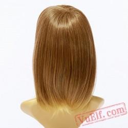 Golden Straight Short Wigs for Women