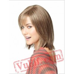 Straight Short Blonde Wigs for Women