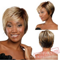 Brown Blonde Short Wigs for Black Women