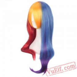 Colored Straight Long Lolita Wigs for Women