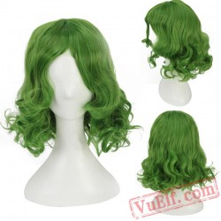 Short Curly Green Cosplay Wigs for Women