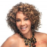 Fashion Short Curly Brown Wigs for Women