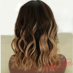 Brown Short Curly Cosplay Wigs for Women