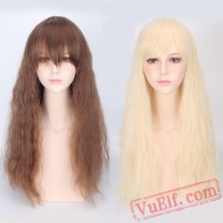Brown & Gold Cosplay Wigs for Women