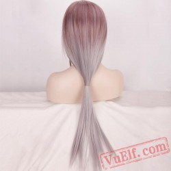 Brown Straight Long Cosplay Wigs for Women
