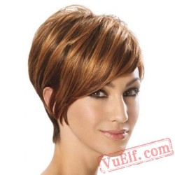 Short Puffy Wigs for Women