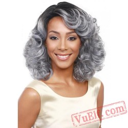 Sliver Short Curly Wigs for Women