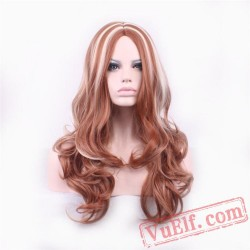 Mid-Length Curly Fashion Wigs for Women