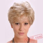 Short Curly Puffy Cosplay Wigs for Women