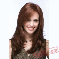 Brown Long Curly Cosplay Wigs for Women