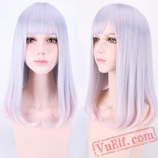 Long Curly Purple Lolita Wigs for Women