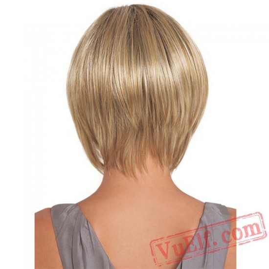 Short Puffy Culy Wigs for Women