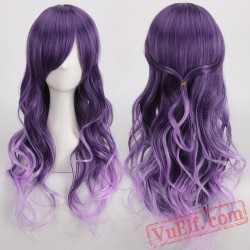 Long Curly Purple Cosplay Wigs for Women
