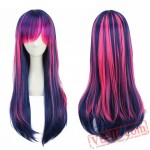 Colored Long Straight Lolita Wigs for Women
