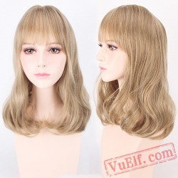 Brown Short Curly Puffy Lolita Wis for Women
