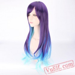 Fashion Long Curly Colored Wigs for Women
