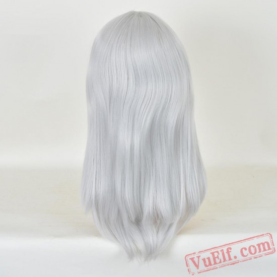 Long Straight Sliver Wigs for Women