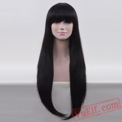 Black Straight Wigs for Women
