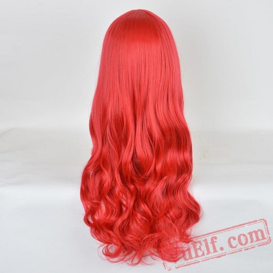 Red Long Curly Cosplay Wigs for Women