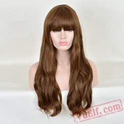Fashion Long Curly Puffy Wigs for Women