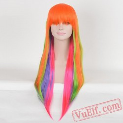 Colored Long Straight Wigs for Women