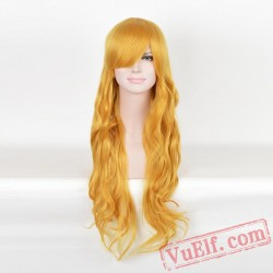 Yellow Curly Wigs for Women
