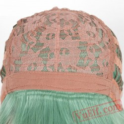 Long Curly Green Wigs for Women