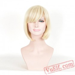 Short Curly Colored Wigs for Women