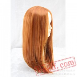 Brown Long Straight Cosplay Wigs for Women