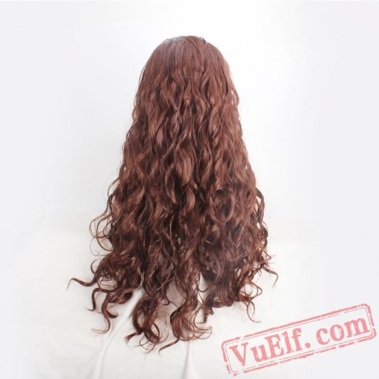 Brown Halloween Witch Wigs for Women