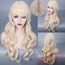 Long Curly Gold Wigs for Women