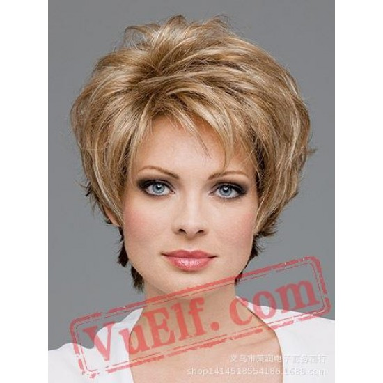 Short Curly Puffy Wigs for Women
