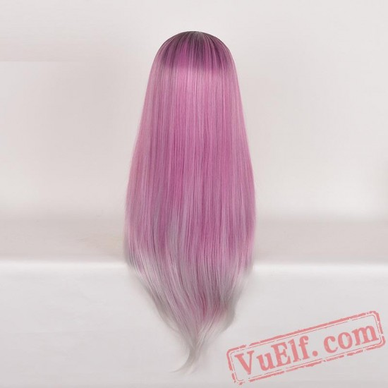 Colored Long Straight Cosplay Wigs for Women